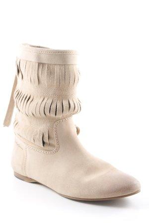 Hilfiger Denim Ankle Boots beige leather