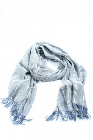 Hilfiger Fringed Scarf blue-white striped pattern casual look