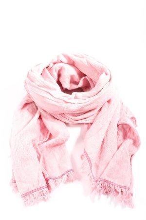 Hilfiger Sjaal met franjes roze casual uitstraling
