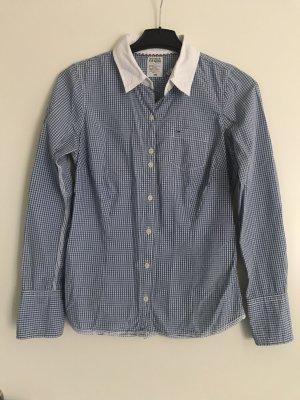 Hilfiger Denim Camisa de manga larga azul celeste-blanco Algodón