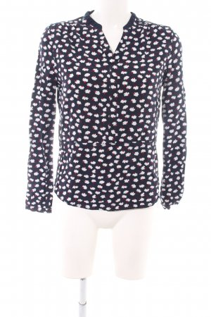 Hilfiger Langarm-Bluse schwarz abstraktes Muster Casual-Look