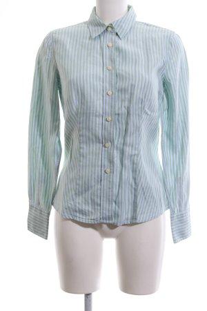 Hilfiger Langarmhemd grün-weiß Streifenmuster Business-Look