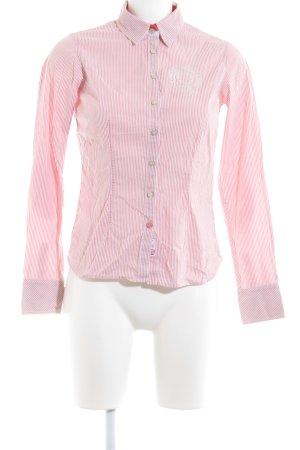 Hilfiger Langarmhemd hellrot-weiß Streifenmuster Business-Look
