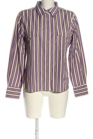 Hilfiger Langarmhemd lila-wollweiß Streifenmuster Casual-Look