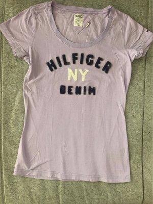 Hilfiger Denim T-shirt lila Katoen