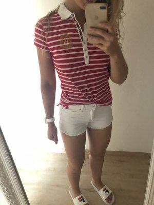 Hilfiger Polo Pink weiß