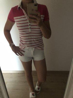 Hilfiger Polo weiß-pink
