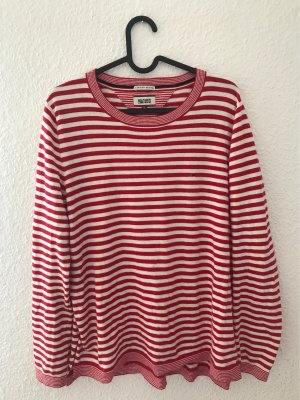 Hilfiger Denim Oversized Sweater white-red