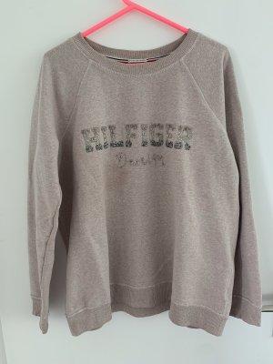 Hilfiger Pullover mit Glitzeraufschrift