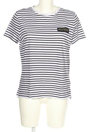 Hilfiger Koszulka w paski biały-czarny Wzór w paski W stylu casual