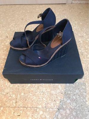 Tommy Hilfiger Platform Sandals dark blue-brown