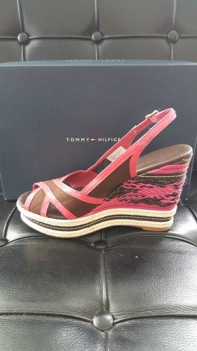 Tommy Hilfiger Platform Sandals pink-brown