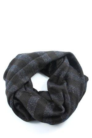 Hilfiger Écharpe tube noir-bleu motif rayé style décontracté