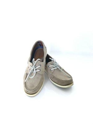 Tommy Hilfiger Zapatos de marinero beige-blanco Cuero