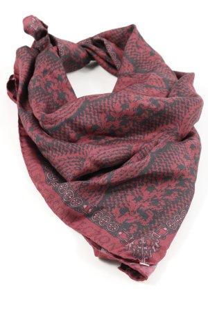 Hilfiger Zijden doek rood-roze abstract patroon casual uitstraling