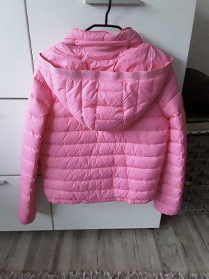 Quilted Jacket neon pink nylon