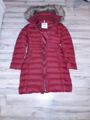 Quilted Coat dark red nylon
