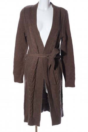Hilfiger Knitted Coat brown cable stitch casual look