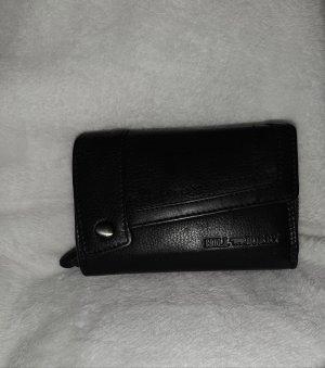 Hill Burry Echt Leder Portemonnaie schwarz