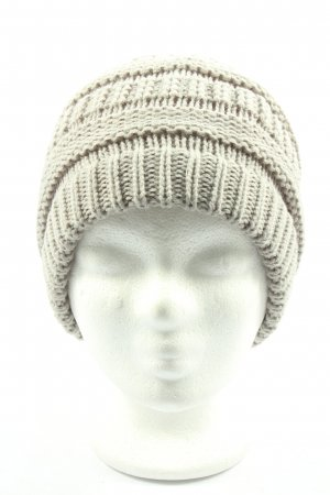 Hilltop Knitted Hat natural white cable stitch casual look