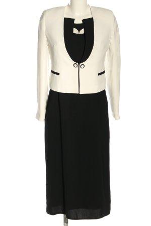 Hilmi Boran Woven Twin Set black-white business style