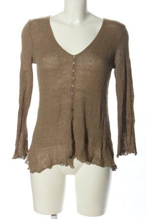 Himalaya Crochet Cardigan brown casual look