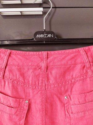Marc Cain Linen Skirt raspberry-red