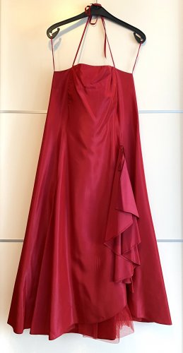 Himbeerfarbenes Abendkleid 3/4 Länge mit passender Stola