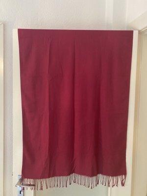 Pashmina rouge framboise coton