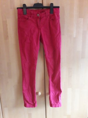 Benetton Pantalone jersey rosso lampone
