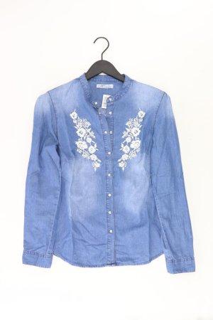 Himmelblau Bluse Größe 38 blau aus Baumwolle