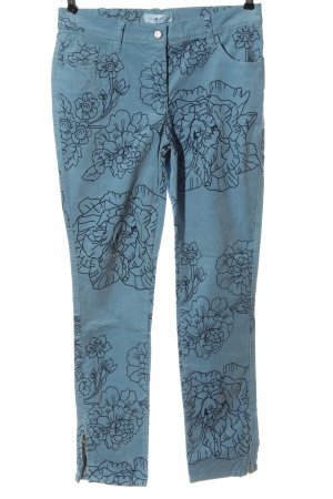 Himmelblau by Lola Paltinger Corduroy Trousers blue flower pattern casual look