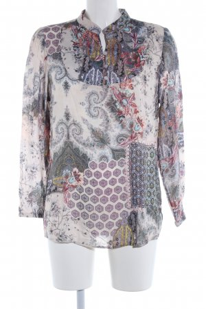 Himmelblau by Lola Paltinger Langarm-Bluse abstraktes Muster Casual-Look