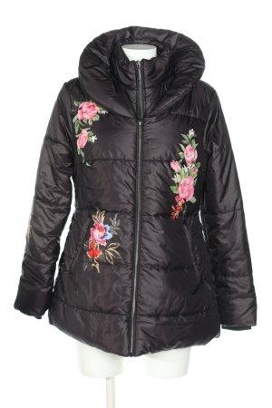Himmelblau by Lola Paltinger Outdoor Jacket black flower pattern casual look