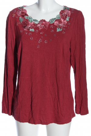 Himmelblau by Lola Paltinger Schlupf-Bluse rot Blumenmuster Casual-Look