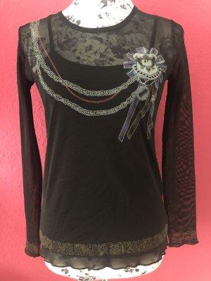 Himmelblau by Lola Paltinger Camisa de malla negro Poliéster