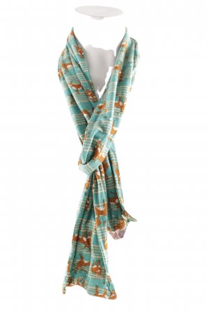 Himmelblau by Lola Paltinger Summer Scarf striped pattern casual look