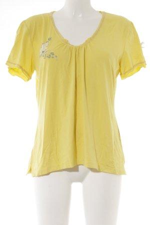 Himmelblau by Lola Paltinger T-Shirt gelb Casual-Look