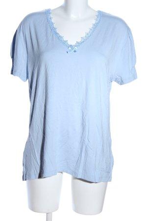 Himmelblau by Lola Paltinger V-Ausschnitt-Shirt blau Casual-Look