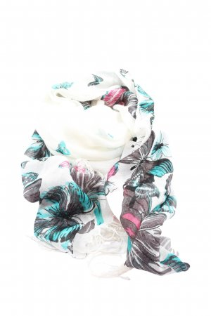 Himmelblau Fringed Scarf themed print casual look