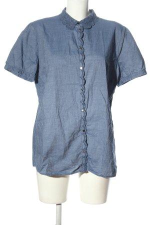 Himmelblau Hemd-Bluse blau Business-Look