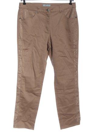 Himmelblau Pantalon taille haute brun style décontracté