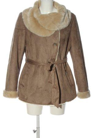 Himmelblau Manteau court brun style décontracté