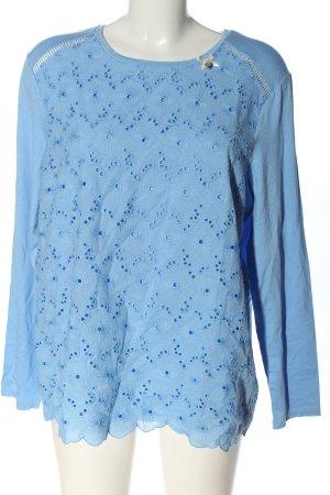 Himmelblau Langarm-Bluse blau Casual-Look