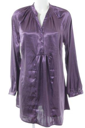 Himmelblau Langarm-Bluse lila Elegant