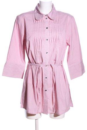 Himmelblau Langarmhemd pink-weiß Streifenmuster Casual-Look