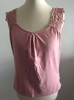 Himmelblau by Lola Paltinger Top de ganchillo rosa