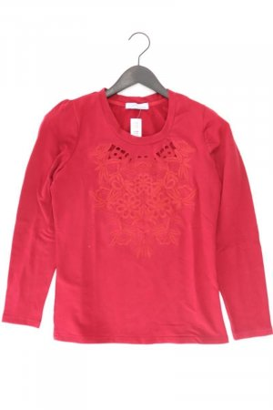 Himmelblau Pullover Größe 36 blumen rot aus Baumwolle