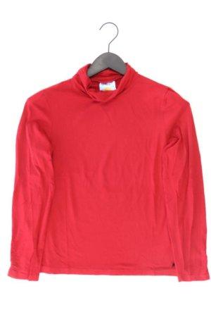 Himmelblau Rollkragenshirt Größe 38 Langarm rot aus Viskose