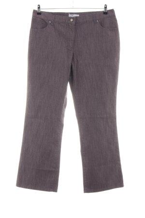 Himmelblau Straight-Leg Jeans braun meliert Casual-Look